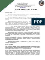 ANALIZA SWOT A COMPANIEI  TOYOTA.docx