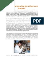 Calidad de vida de niños con EM/SFC