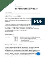 DICIONÁRIO DE ACORDES PARA VIOLÃO