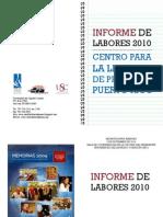 Informe de Labores 2010