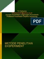Riset Eksperiment & Klinik
