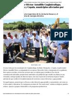 01-10-2019 Visita el gobernador Héctor Astudillo Cuajinicuilapa, Juchitán, Marquelia y Copala, municipios afectados por Narda.