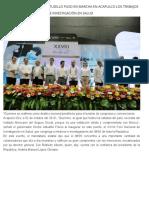 02-10-2019 El gobernador Héctor Astudillo puso en marcha en Acapulco los trabajos del XXVIII Foro Nacional de Investigación en Salud.