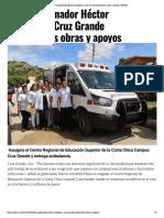 03-10-2019 Lleva gobernador Héctor Astudillo a Cruz Grande Importantes obras y apoyos.