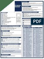 Manual Control remoto Artico y RM-505-