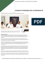 04-10-2019 Héctor Astudillo solicitó incorporar 16 municipios más a la declaratoria de Desastre.
