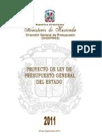 Proyecto Presupuesto Republica a 2011