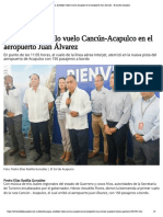 29-10-2019 Inaugura Astudillo vuelo Cancún-Acapulco en el aeropuerto Juan Álvarez.