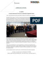 13-02-20 Se reúne Gobernadora Pavlovich con Gabinete de Seguridad Federal