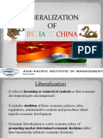 Liberalization of India vs China