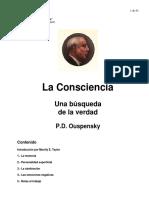 Ouspensky P D - La Conciencia