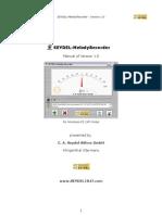 Manual SEYDEL-MelodyRecorder English