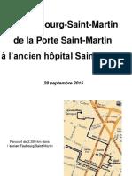 Visite Rue Saint Martin