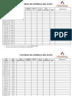 CONTROL DE LIMPIEZA DEL BAÑO MAMALUSHI