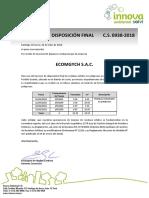 Certificado de Disposición Final