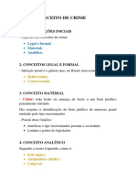 CONCEITO DE CRIME