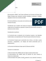 Recomendación Rec (2008)11 del Comité de
