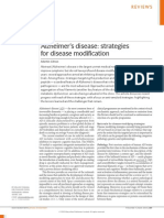 Alzheimer's disease strategies for disease modification