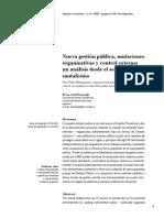 Nueva gestión pública, mutaciones organizativas y control externo un análisis desde el sector  Público santafesino