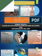 PLANES DE CONTINGENCIA PARA ESTADO DE ALERTA POR CONTAMINACION DEL AIRE