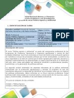 Syllabus del curso Política Agraria y Ambiental