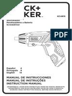 atornillador Black and Decker B&D KC4815