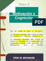 Tema 8 Motivación y cognición