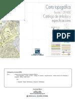 Catálogo de Simbolos y Especificaciones Carta topográfica