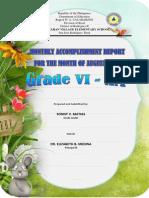 accomplishment report grade six am august