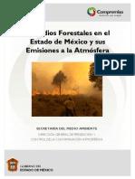 Incendios Forestales en el Estado de México IA e Emisiones a la Atmósfera 2009 30p