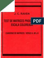 RAVEN Cuaderno de Matrices A, AB, y B