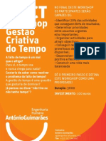 Workshop Gestão Criativa do Tempo