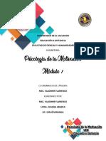 Módulo 1 Psicología de la Motivación tema 3