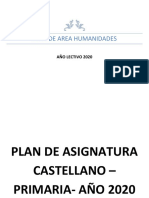 PLAN AREA PRIMARIA 1 A 5  2020