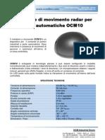 Rivelatore di Movimento Radar Per Porte Automatiche_OCM10