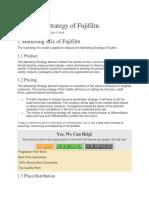 Marketing Strategy of Fujifilm.docx