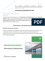 Determinacy and Indeterminacy Notes for Civil Engineering