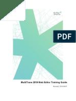 MultiTrans - Web Editor Training Guide