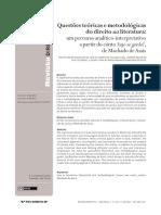 Questões teóricas e metodológicas do direito na literatura