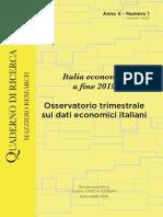 Italia Economia a Fine 2019