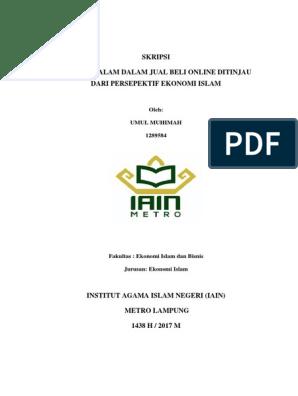 Akad Assalam Dlm Jualbeli Online Dari Perspektif Ekonomi Islam Pdf
