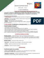 TEXTO DRAMATICO - Características