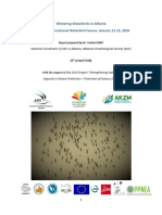 Report on the IWC  2018 in Albania by Albanian Ornithological Society