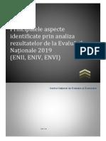 Concluzii ale evaluarilor nationale de la clasele a II-a, a IV-a si a VI-a 2019