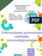 Enfermedades pulmonares mediadas inmunológicamente. presentacion