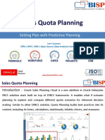 Sales Quota Planning Predictive Planning