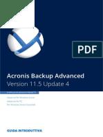 Acronis Backup Advanced 11.5 Guida Introduttiva