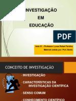 Ciências Aula 01 - Procedimentos Investigativos