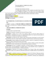 LEY N° 5398-2015 Tratado Sobre Comercio de Armas