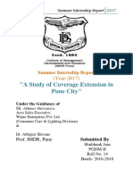 A Study of Coverage Extension in Pune City